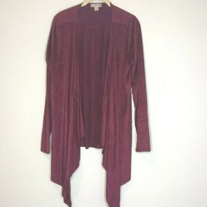 Live & Let Live Velour Cardigan Open Front